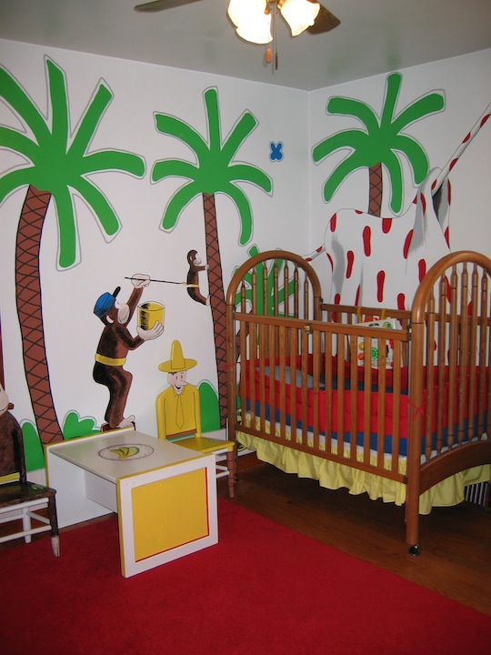 Curious george wall stickers for Curious george wall mural