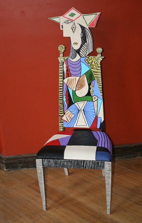 Fendos chair painting Picasso Femme au Jardin