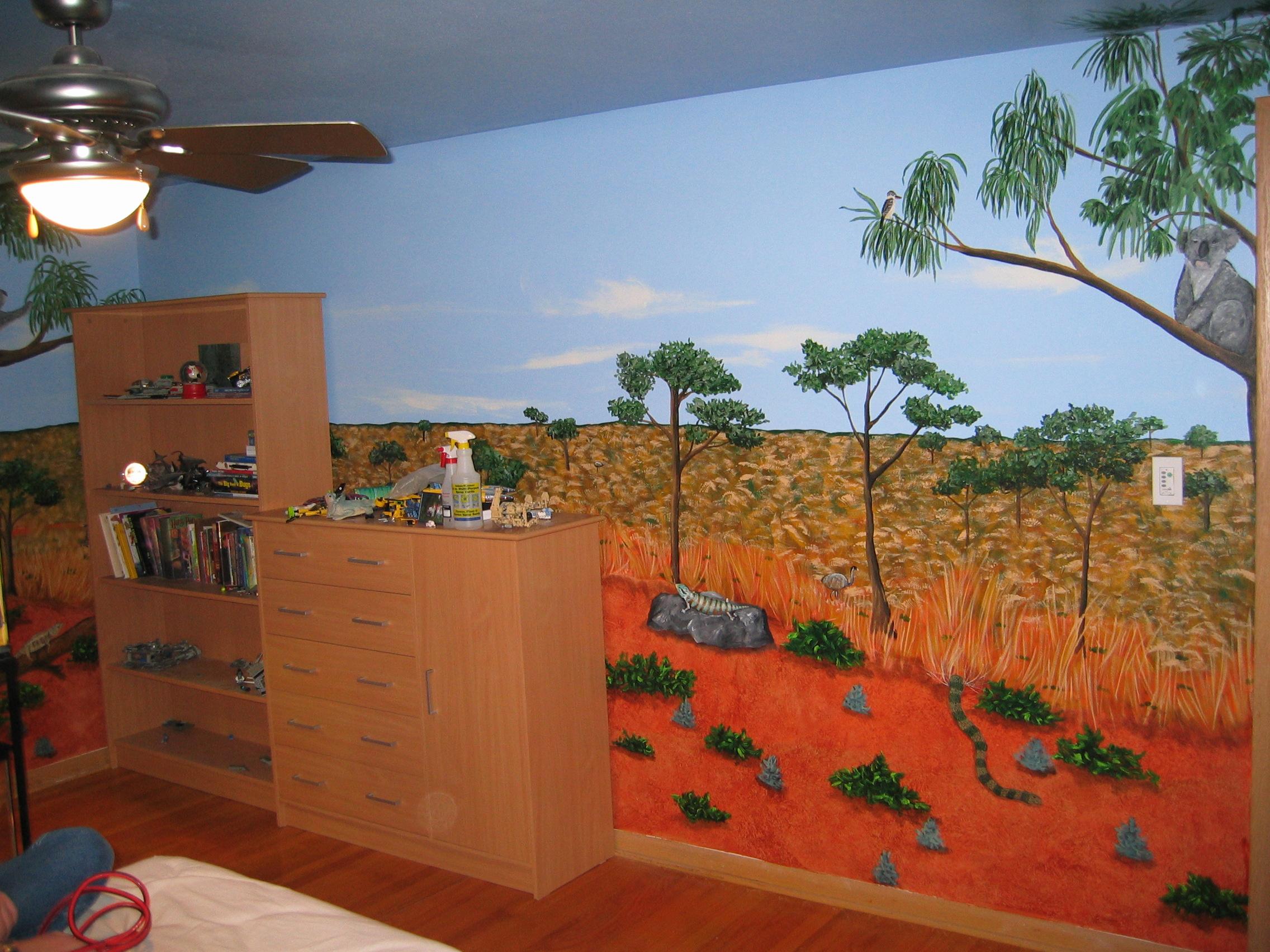 Australian outback todd fendos art for Australian mural