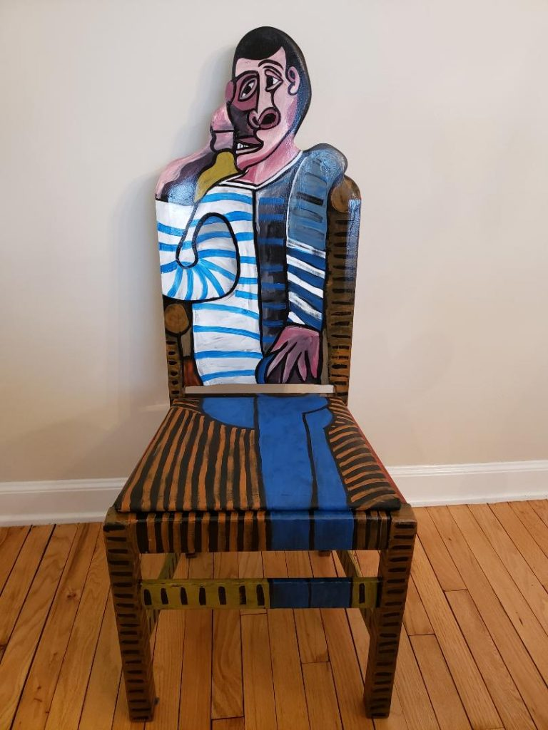 "Picasso chair ""The Sailor"" by Artist Todd Fendos"