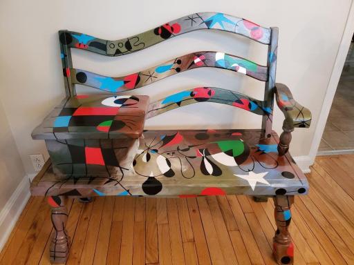 """Miro """"Constellations"""" gossip bench by artist Todd Fendos"""